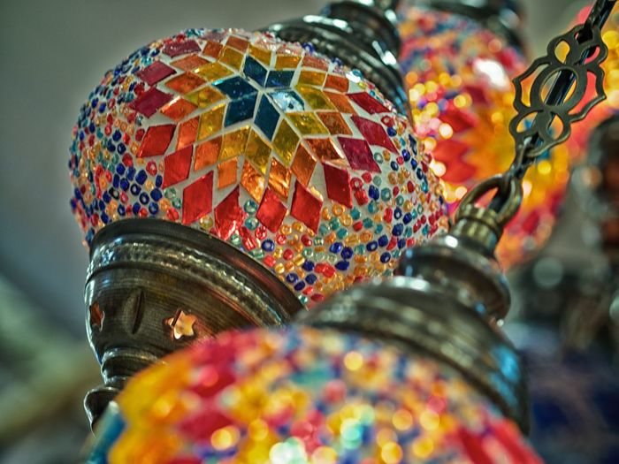 Art Blue Close-up Colorful Cultures Day Design Detail Ethnic Event Focus On Foreground Lamp Light Products Mar Multi Colored No People Outdoors Part Of Product Photography Selective Focus Spirito Del Pianeta