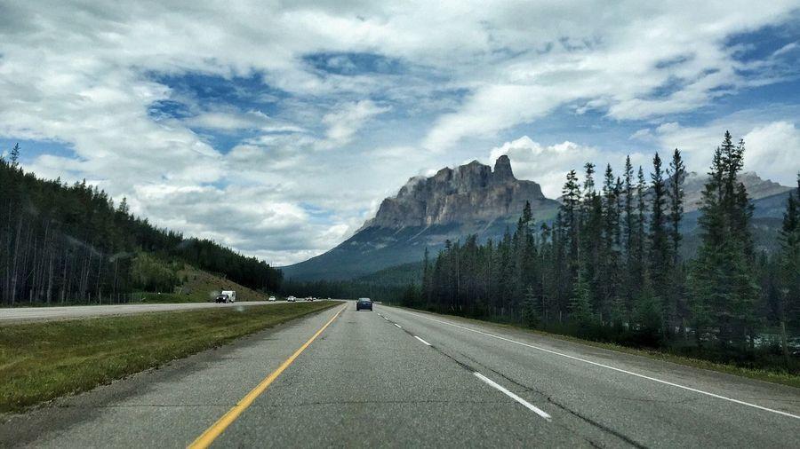 IPS2015Landscape CastleMountain Driving Canadianrockies Travelalberta Summer Clouds Landscape Landscapephotography Highway