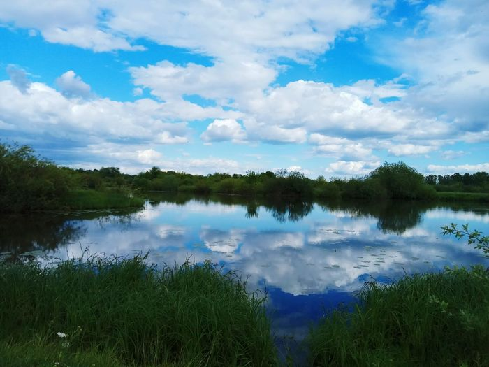 Lake Water Reflection Landscape Cloud - Sky Nature Tree Sky Nature Reserve Wilderness Outdoors Scenics Forest Tranquility Day Blue No People Mountain Beauty In Nature