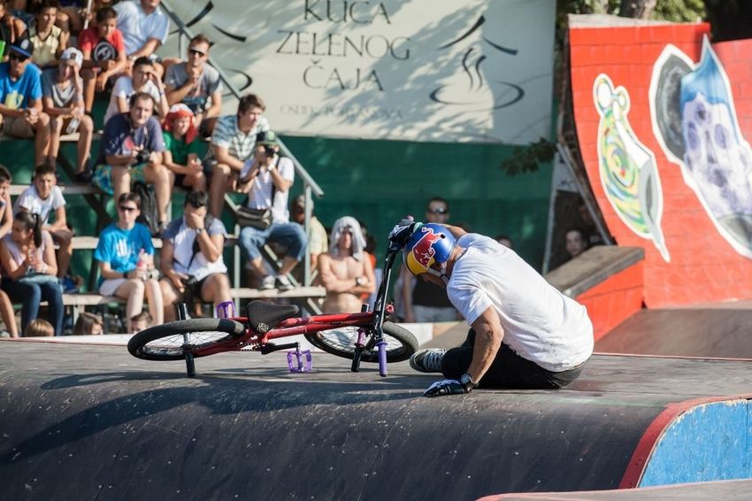 Sometimes you have to learn it the hard way Sports BMX Contest Bmx  Pannonian Challenge