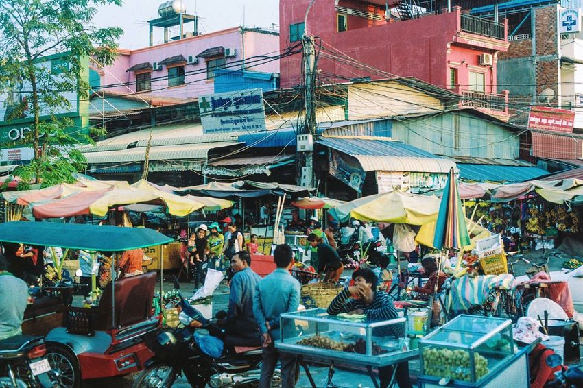 Travelling in Cambodia Film Photography Ae-1 Canon Outdoors Building Exterior People Crowd Day