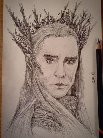 ?Yeah! It's my Thranduil?✏️ Drawing Pencil Drawing Hobbit Art Fanart Thranduil  Exciting, Portrait Cute King