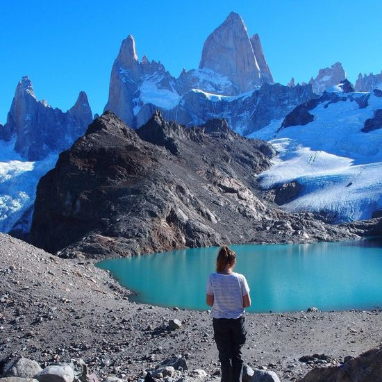 Mountain Beauty In Nature Real People Scenics Nature Water My Year My View Patagonia Mount Fitz Roy Argentina Hiking Mountainview 3000m Above The Sea Travelling Travel Photography