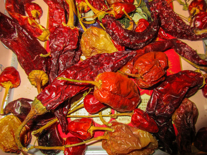 Abundance Chillies Chillies Red Close-up Cooking Dried Food Full Frame Gastronomy Hot Indoors  Large Group Of Objects No People Peperoncini Piccanti🔥🔥 Ready-to-eat Red Sicilian Table Taste Variation Vegetables