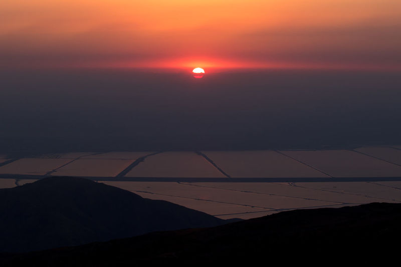 Sunset view at Mount Irak in Jordan. Beauty In Nature Dramatic Sky Idyllic Majestic Nature Romantic Sky Scenics Sky Sun Sunset Tranquil Scene Tranquility Vibrant Color