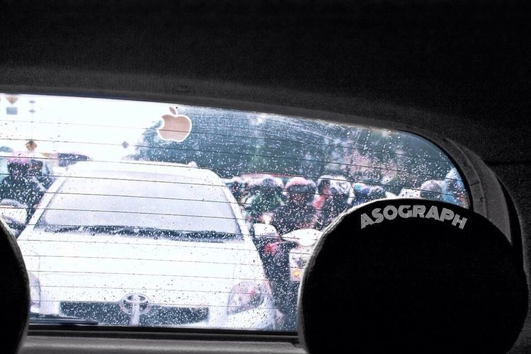 Rain Traffic Color Splash Jakarta jam