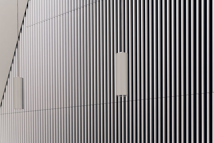 Architecture Backgrounds Black Blackandwhite Built Structure Indoors  Interior Low Angle View Minimalism Minimalist Architecture Modern No People Pattern Striped White The Architect - 2017 EyeEm Awards