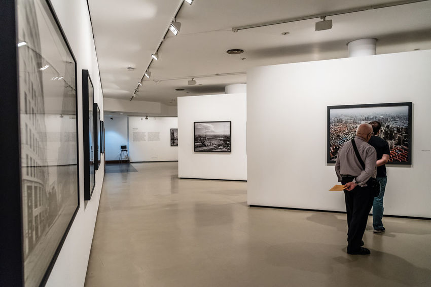 Photographic exhibition Madrid Architecture Art Museum Culture Exhibition Gallery Indoors  Modern Museum Photography Real People Two People Visitors