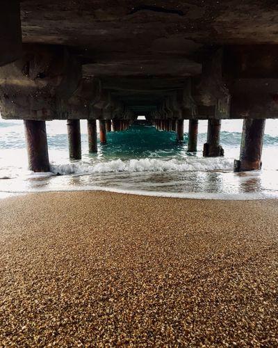 Море Рыбалка причал риф Water Built Structure Architecture Architectural Column Below No People Day