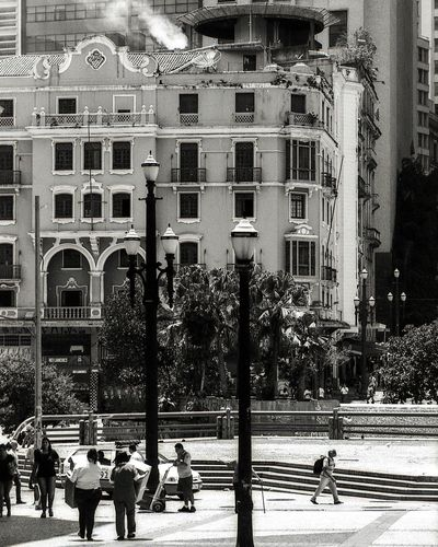 Streetphotography Sao Paulo - Brazil Urban Analog Analogue Photography Black And White Film Photography Outdoors Building Exterior Architecture Day Built Structure City