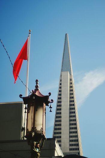 Seeing The Sights TransAmericaBuilding Transamerica Pyramid San Francisco Chinatown Chinatown San Francisco Lamppost Lamp Lantern