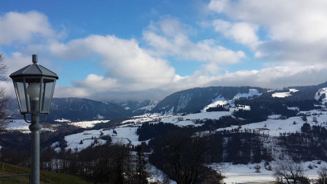 Blick vom Paradies auf Steibis Oberstaufen Allgäu
