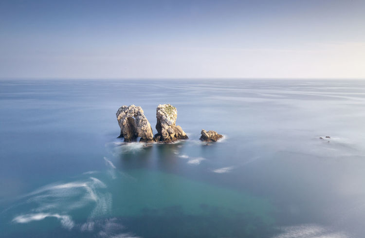 The gate Gate Liencres Porta SPAIN Landscape Los Urros Rocks And Water Sea And Sky