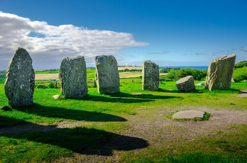 Ancient Ancient Civilization Day Druid's Secret Place Grass Human Representation Ireland🍀 Leading Old Ruin Outdoors Relaxing Moments Remote Rock Rock - Object Sculpture Standing Statue Stone Stones Textured  The Past Traveling Stone Circle