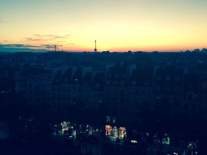 Dusk from Centre Pompidou Paris Pompidou Skyline