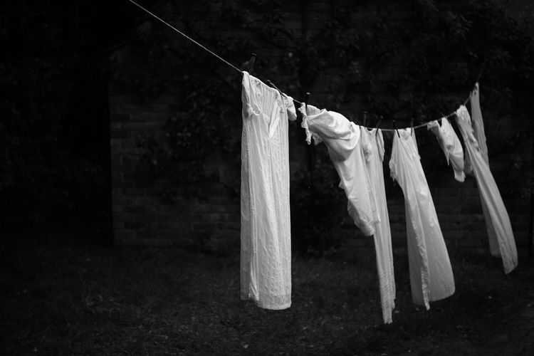 Clothes drying on rope