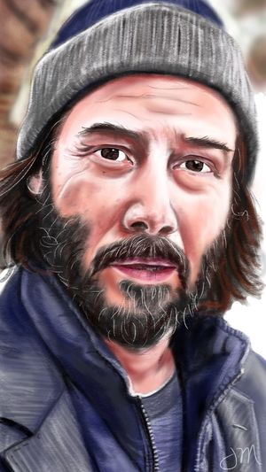 Keanu Reeves, the artist. Actors Actor Artist Appreciation Celebritydrawing Keanu Reeves Portrait Clothing Headshot One Person Beard Looking At Camera Front View Facial Hair Real People Winter Close-up Knit Hat Human Face Men EyeEmNewHere
