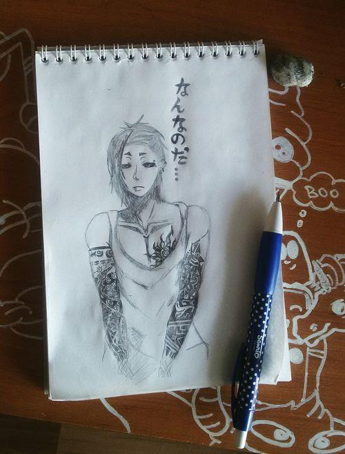 Drawing Picture Japan Uta Gray Sketch Photo Love ♥ Art