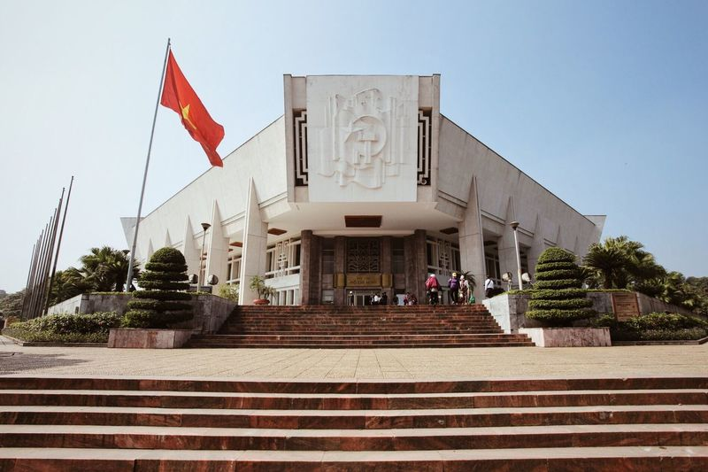 Vietnam Hanoi Hanoi City Architecture Architecturelovers Socialism Flag Building Exterior Built Structure Politics And Government Day Sculpture Sky Building Travel Travel Destinations