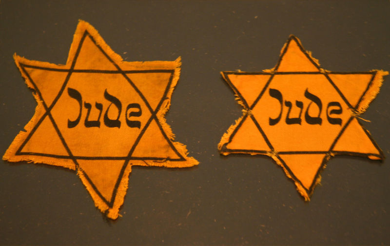 Two Jews Stars - Symbol for the Holocaust in the third reich Antisemitism Genocide Germany History Holocaust Jew Jew Star Jewish Jewish Symbol Judaism Jude Massacre National Socialism NAZI No People Persecution Pogrom Racialism Star Symbol Text Third Reich Two Objects Western Script World War 2
