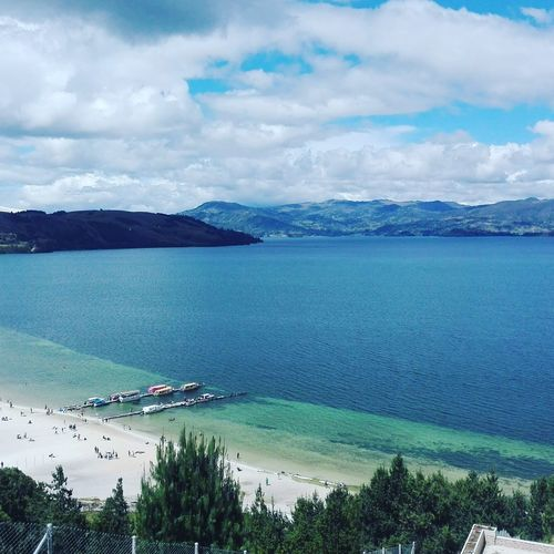Boyacá, laguna de tota. Beach Vacations Travel Beauty In Nature Water Nature Tranquil Scene Lost In The Landscape Connected By Travel