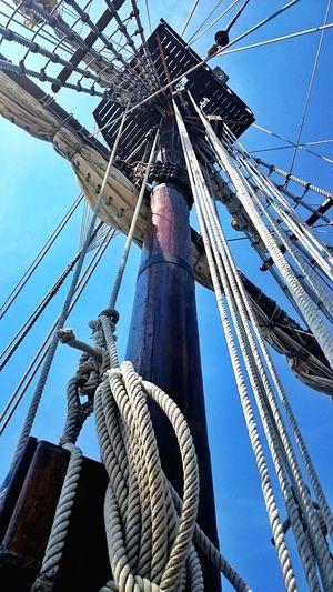 3 miles on the El Galeon, Spanish ship visiting port city Wilmington NC Spanish Ship Rope Coastal Carolina