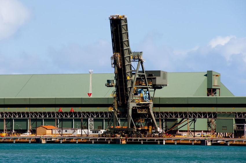 Crane in Port of Geraldton Australia Geraldton Western Australia Crane Freight Transportation Machinery Port Waterfront
