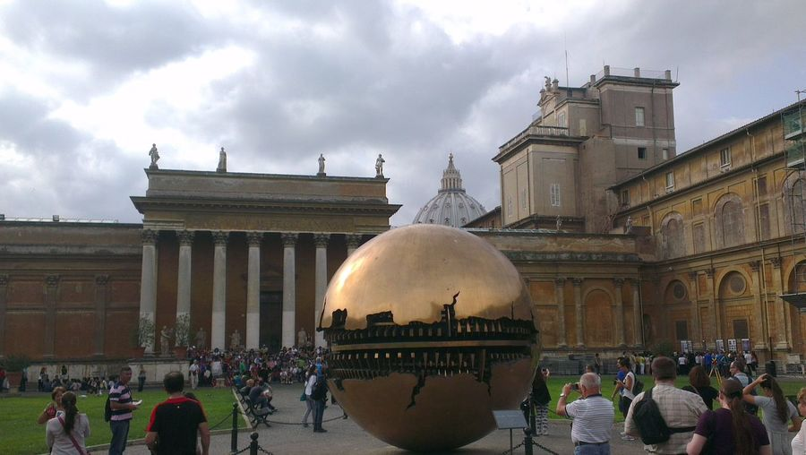 Sfera con sfera monument of Arnaldo Pomodoro Italian Monuments Vaticano Born To Be Wild On The Road