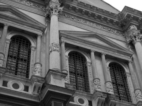 Italy❤️ venice Amazing Architecture Sculpture Columns Manument Black And White Facades Classic Reinessance Baroque