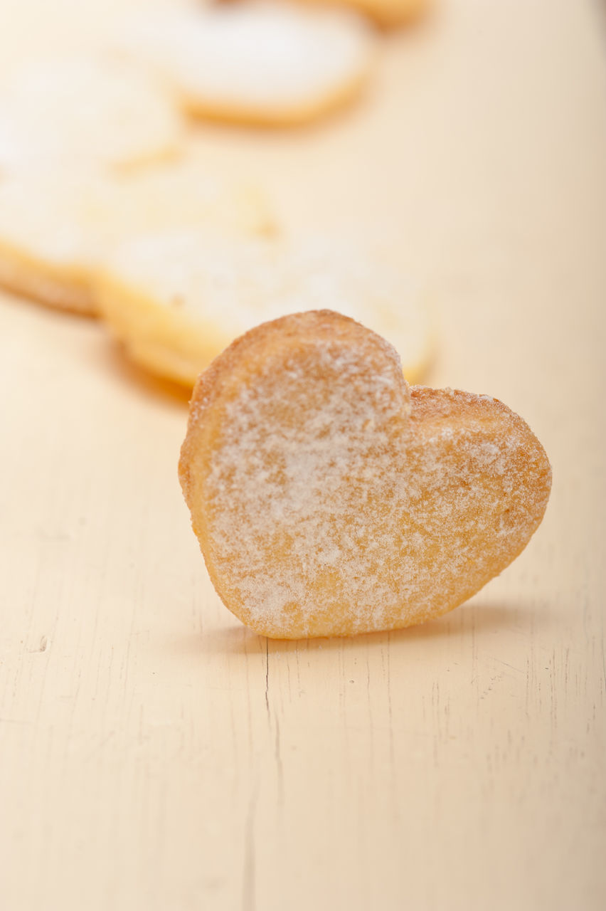 Close-Up Of Heart Shape Cookies On Table