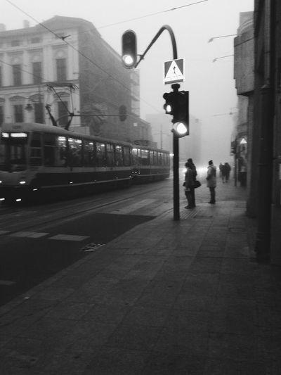 Taking Photos Amateurphotography PhonePhotography Tram City Streetphotography Street Blackandwhite