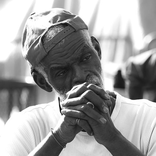 Photo444 Documentary Streetphotography Portrait Black And White Blackandwhite Fujifilm Fujix100f Fujifilm_xseries Headshot Focus On Foreground Real People One Person Men Portrait Lifestyles