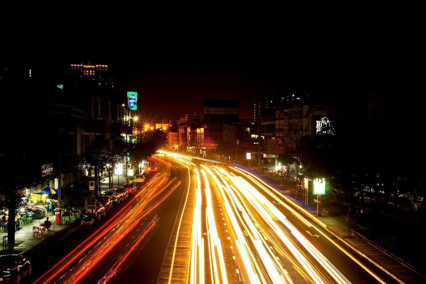 Civil Civilization Town Metropolis Tailight Headlight Illuminated Night Light Trail Speed Long Exposure Traffic Motion Transportation Road Street Car City Vehicle Light City Life Outdoors Rush Hour Street Light EyeEmNewHere Adventures In The City