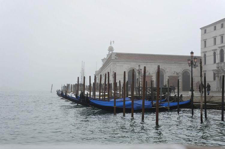 Bateau Brouillard Brume Canal Carnaval Eau Gondole In Venice Phare Pont Tour Venice, Italy Ville Water