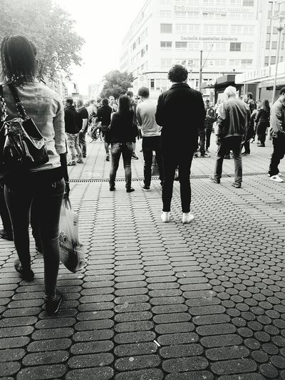 People Photography People On The Street People From Behind People Portrait People Walking  Street Photography Street Photo Street Life City Street City Life My City Black And White Portrait Black And White Photography Black And White Collection  Portrait Photography Walking Rush Hour Summertime People_collection Monochrome Photography Galaxy S7 Edge