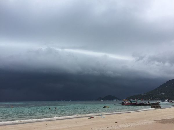 Ocean Thailand Koh Tao Clouds And Sky Rain Rainy Day Rain Time