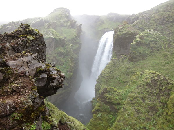 Green Grass High Huge Iceland Iceland_collection River Rock Formation Rock Formation Spindrift Spray W Waterfall