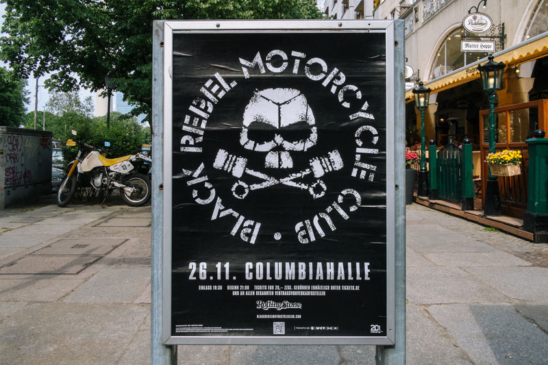Berlin Berlin Poster Black Rebel Motorcycle Club Columbiahalle Communication Day No People Outdoors Text