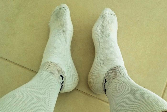 A pair of dirty socks Socks Socks Of The Day Pair Of Socks Dirty Socks White Socks Soccer Soccer Wear Low Section Human Leg Ballet Dancer Sock Men Human Foot Limb Close-up