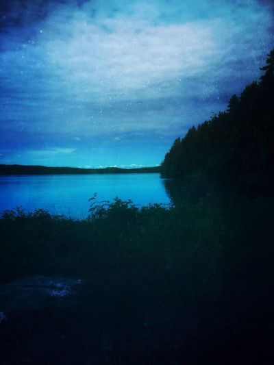 Dalarna Sky Nature Scenics Water Tranquil Scene Beauty In Nature Tranquility Silhouette Outdoors Tree Sängen Leksand Landscape Sea Night Sommergefühle