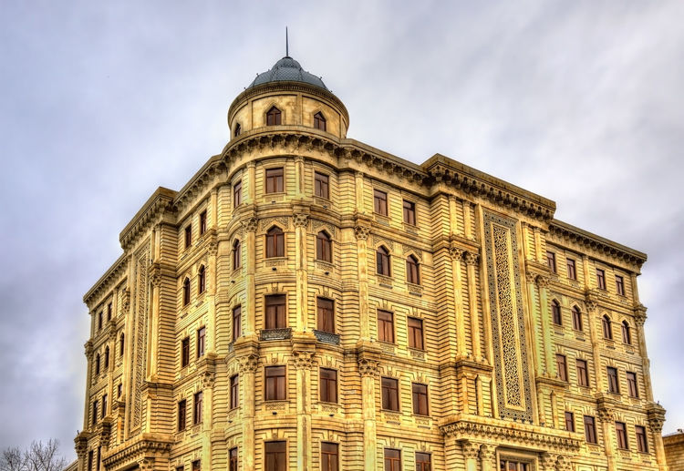 Low angle view of historical building against sky