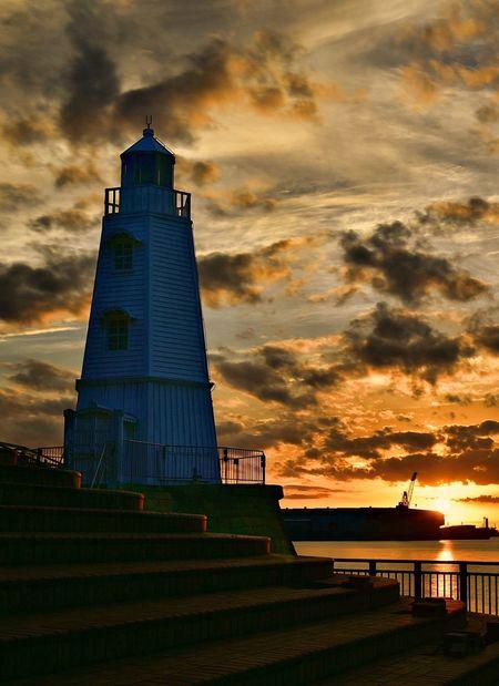 OSAKA Lighthouse EyeEm Best Shots EyeEm Selects EyeEmNewHere EyeEm Gallery Sunset Sky Architecture No People Dusk Orange Color