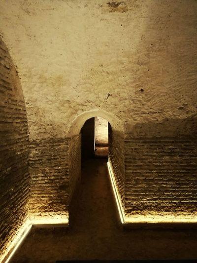 Sevilla Spain Miarma Sanluisdelosfranceses Cripta Water Tunnel Architecture Built Structure Archway Stone Wall Historic Arch Arched