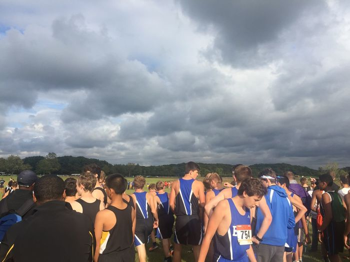 Sport Cloud - Sky Large Group Of People Sky Day Outdoors Crowd Men People Nature Cross Country Sports Teenager Teenagers  Boys
