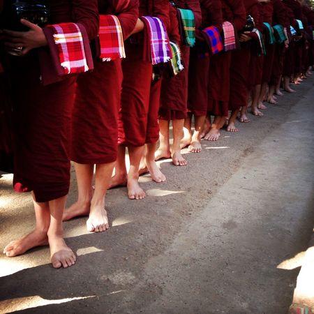 Burma Monk  Feet Contemplation