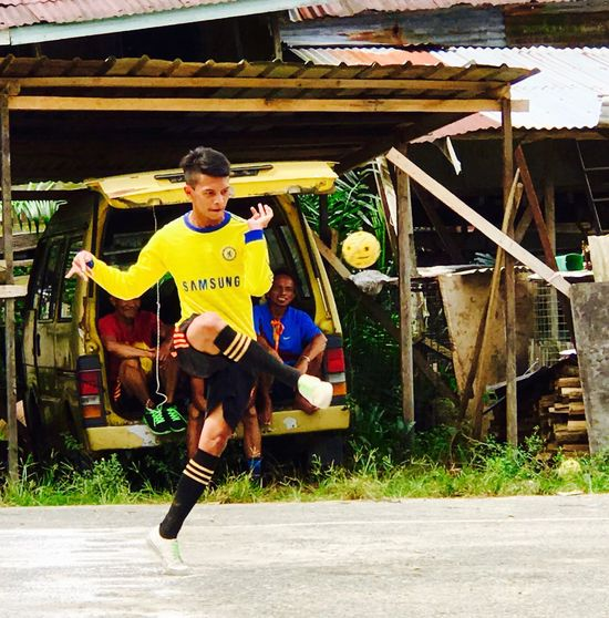 Dance of the Sepak Takraw player. Sports Outdoors Real People Young Adult