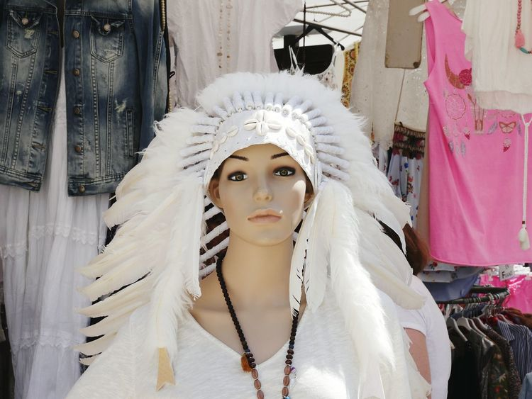 EyeEm Selects Headdress Arts Culture And Entertainment Fashion Portrait Beauty Adult Human Body Part Headwear Young Adult Venetian Mask People Statue Glamour Outdoors Adults Only One Person One Woman Only Only Women Young Women Day Doll Doll Dolls Doll Photography