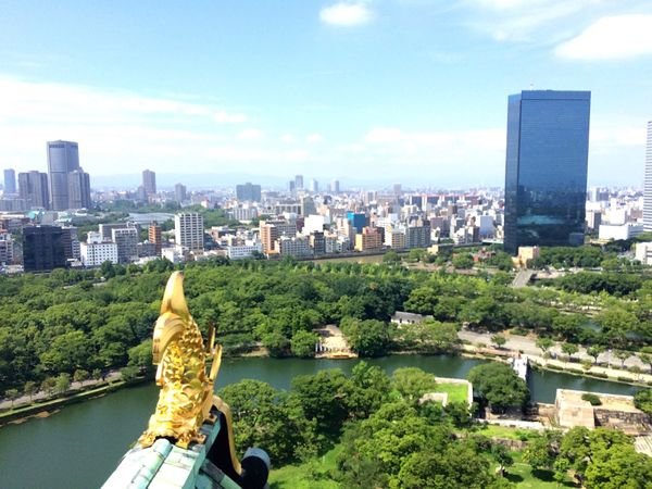 大阪城 OSAKA Japan Castle Green View Sunny 大阪城