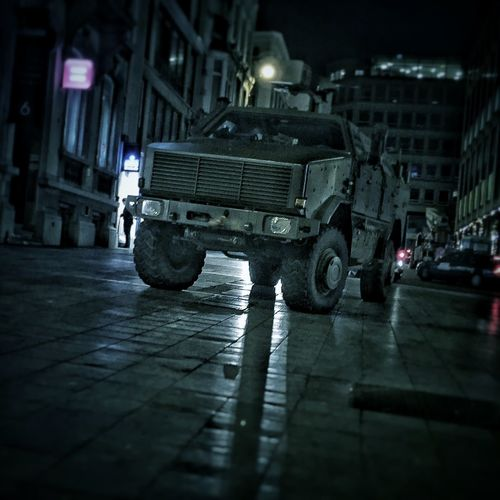 Brussels NoPeace Military Cities At Night