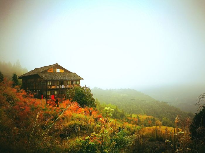 Chinese Architecture House Built Structure Building Exterior Nature Tree Outdoors Landscape Tranquil Scene Clear Sky Plant Beauty In Nature Mountain EyeEmNewHere